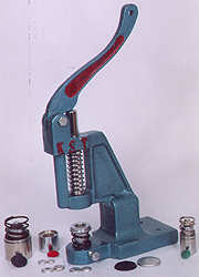 button cover machines & dies, button sewing machines, button making machine